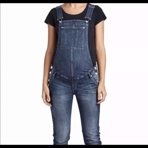 6ea0dcc9716aa H&M Jeans   Hm Mama Maternity Denim Bib Overalls   Poshmark